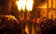 The Comrie Flambeaux - an ancient Scottish fire festival that takes place annually in a small village on the edge of the Highlands