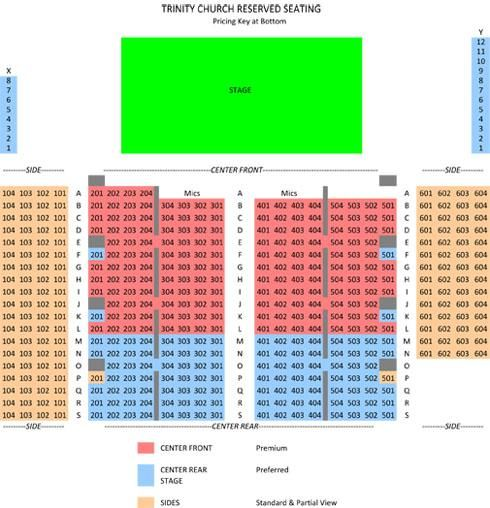 Trinity Seating Chart