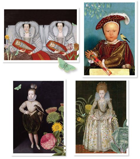 Parthenia Notecards - Renaissance Seasons - 4-pack
